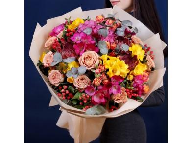 """Букет цветов """"Фейерверк красок"""""""