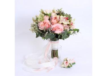 """Свадебный букет цветов """"Палермо"""""""