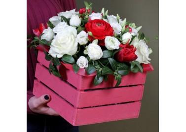 "Ящик цветов ""Lovely"""