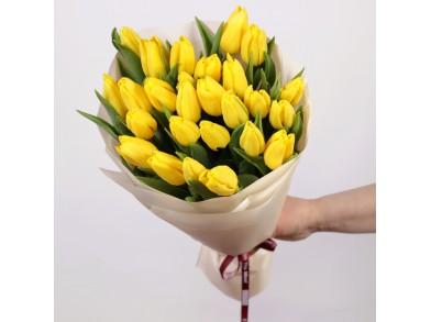 """Букет из 25 тюльпанов """"Gold"""""""
