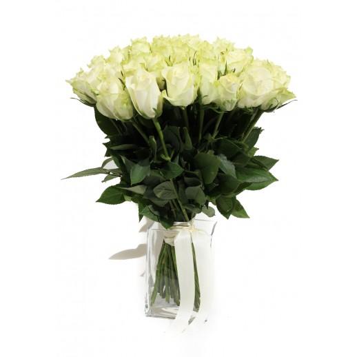 Огромный букет из 101 Белой Розы