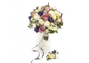 """Свадебный букет цветов """"Лиепая"""""""