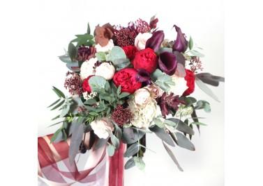 """Свадебный букет цветов """"Танец"""""""