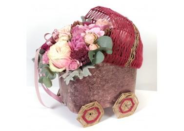 Колясочка с цветами №1