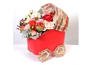 Колясочка с цветами №2