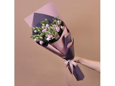 Букет из розовой эустомы