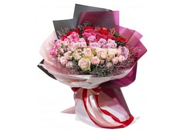 """Букет из роз """"Розовое Танго"""""""