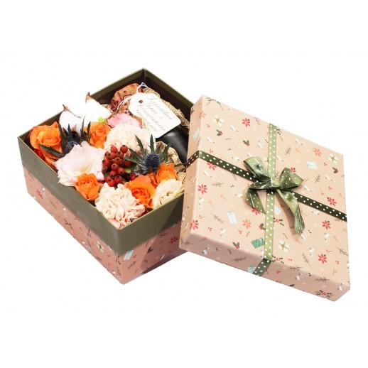 Цветочная композиция в коробке Летний закат