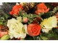 Цветочная композиция в коробке Краски осени