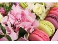 Цветочная композиция в коробке Малиновый Рай