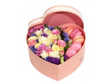 """Цветочная коробка """"Закрытое сердце"""""""