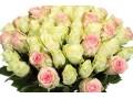 Букет микс из 51 Белой и Розовой Розы
