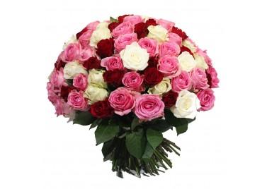 Букет 101 Роза Трио