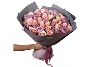 Букет из 51 Розы Нежный Микс